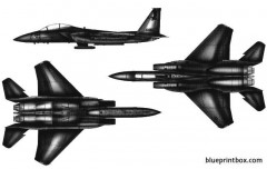 mcdonnel douglas f 15e strike eagle model airplane plan