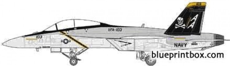 mcdonnel douglas f 18f super hornet model airplane plan