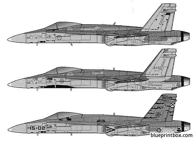 mcdonnel douglas f a 18a hornet model airplane plan