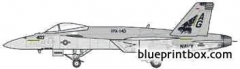 mcdonnel douglas f a 18e super hornet model airplane plan