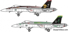 mcdonnel douglas f a 18e super hornet 2 model airplane plan