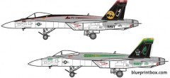 mcdonnel douglas f a 18e super hornet 2 model airplane plan