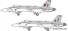 mcdonnel douglas f a 18e super hornet 3 model airplane plan