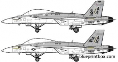 mcdonnel douglas f a 18f super hornet model airplane plan