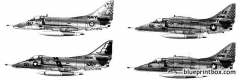 mcdonnell douglas a 4g skyhawk model airplane plan