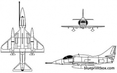 mcdonnell douglas a 4m skyhawk model airplane plan