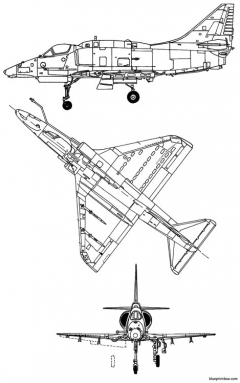 mcdonnell douglas a 4m skyhawk 2 model airplane plan