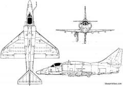 mcdonnell douglas a 4m skyhawk ii 2 model airplane plan