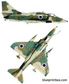 mcdonnell douglas a 4n skyhawk ii model airplane plan