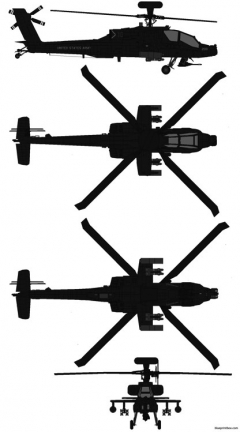 mcdonnell douglas ah 64d apache longbow model airplane plan