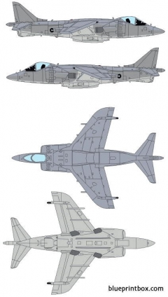mcdonnell douglas av 8b harrier model airplane plan