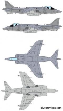 mcdonnell douglas av 8b harrier model airplane plan