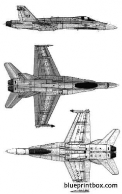 mcdonnell douglas cf 18 hornet model airplane plan