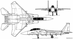 mcdonnell douglas f 15 eagle 1972 usa model airplane plan