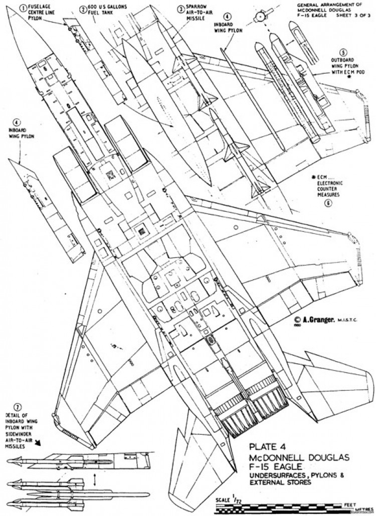 mcdonnell douglas f 15 eagle 2 model airplane plan