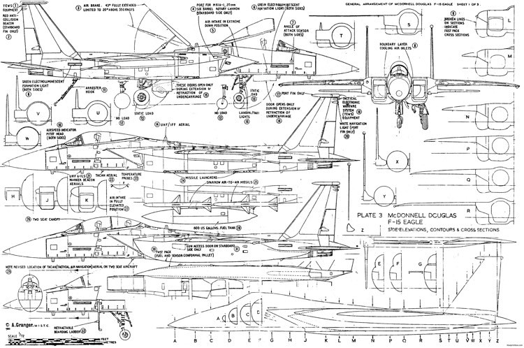 mcdonnell douglas f 15 eagle 3 model airplane plan