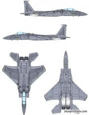 mcdonnell douglas f 15a eagle model airplane plan