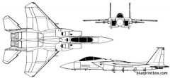 mcdonnell douglas f 15a eagle 02 model airplane plan