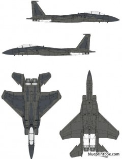mcdonnell douglas f 15c eagle model airplane plan