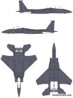 mcdonnell douglas f 15e strike eagle model airplane plan