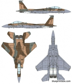 mcdonnell douglas f 15i raam model airplane plan