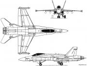 mcdonnell douglas f 18 hornet 1978 usa model airplane plan