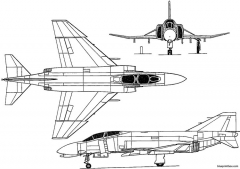 mcdonnell douglas f 4 phantom ii 1958 usa model airplane plan