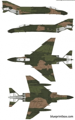 mcdonnell douglas f 4d phantom ii model airplane plan
