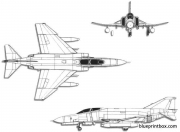 mcdonnell douglas f 4e phantom ii 2 model airplane plan