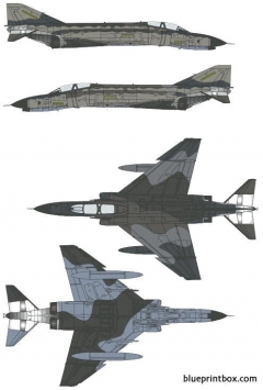 mcdonnell douglas f 4f phantom ii model airplane plan