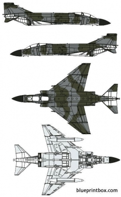 mcdonnell douglas f 4m fgr2 phantom ii model airplane plan