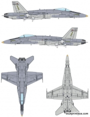 mcdonnell douglas fa 18 hornet model airplane plan
