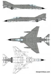 mcdonnell douglas rf 4ej phantom ii model airplane plan