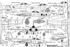mcdonnell f2h banshee model airplane plan