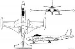 mcdonnell f2h banshee 1947 usa model airplane plan