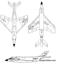 mcdonnell f3h demon model airplane plan