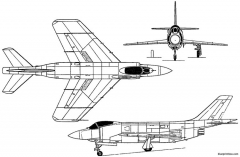 mcdonnell f3h demon 1951 usa model airplane plan