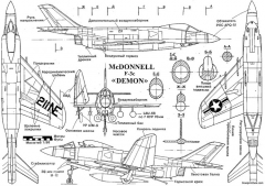 mcdonnell f3h demon 4 model airplane plan