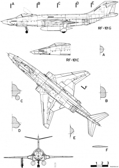 mcdonnell f 101 voodoo 2 model airplane plan