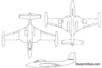 mcdonnell f 2h banshee model airplane plan