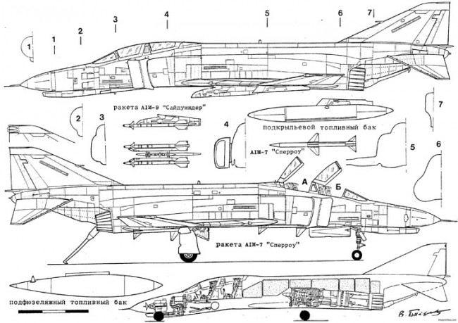 mcdonnell f 4b e s phantom model airplane plan
