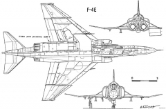 mcdonnell f 4b e s phantom 3 model airplane plan