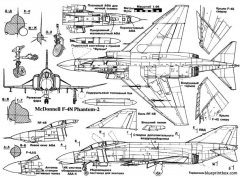 mcdonnell f 4n phantom ii 02 model airplane plan