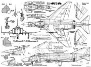 mcdonnell f 4n phantom ii 2 model airplane plan