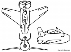 mcdonnell f 85 goblin model airplane plan