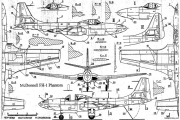 mcdonnell fh 1 phantom 2 model airplane plan