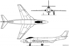 mcdonnell xf 88 1948 usa model airplane plan