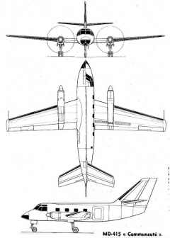 md415 3v model airplane plan