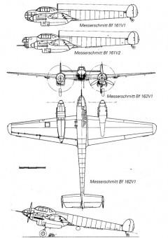 me162 3v model airplane plan