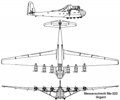 me323 gigant 3v model airplane plan